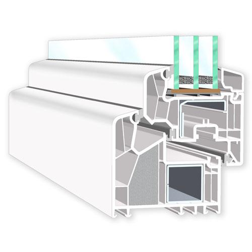 Fenster mit Kunststoffprofil kaufen