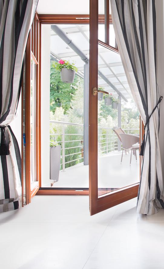 Terrassentüren gibt es in verschiedenen Ausführungen.