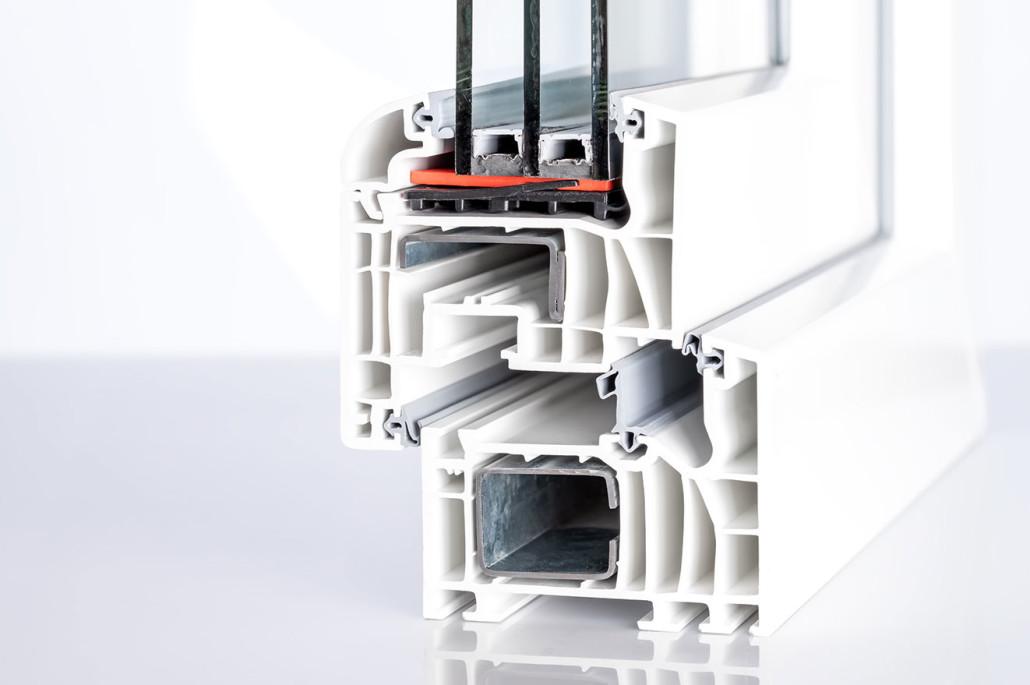 Kunststofffenster besitzen Mehrkammerprofile, welche durch gute Wärmedämmwerte überzeugen.