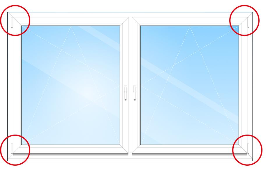 Die gängigste Art und Weise des Fensterbeschlags ist in der Innensicht am Fensterflügel zu sehen.