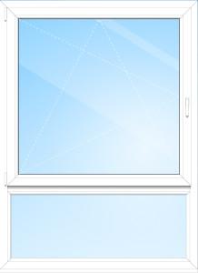 Ein Unterlicht kann beispielsweise bei einem bodentiefen Fenster die gesetzlich vorgeschriebene Brüstungshöhe darstellen
