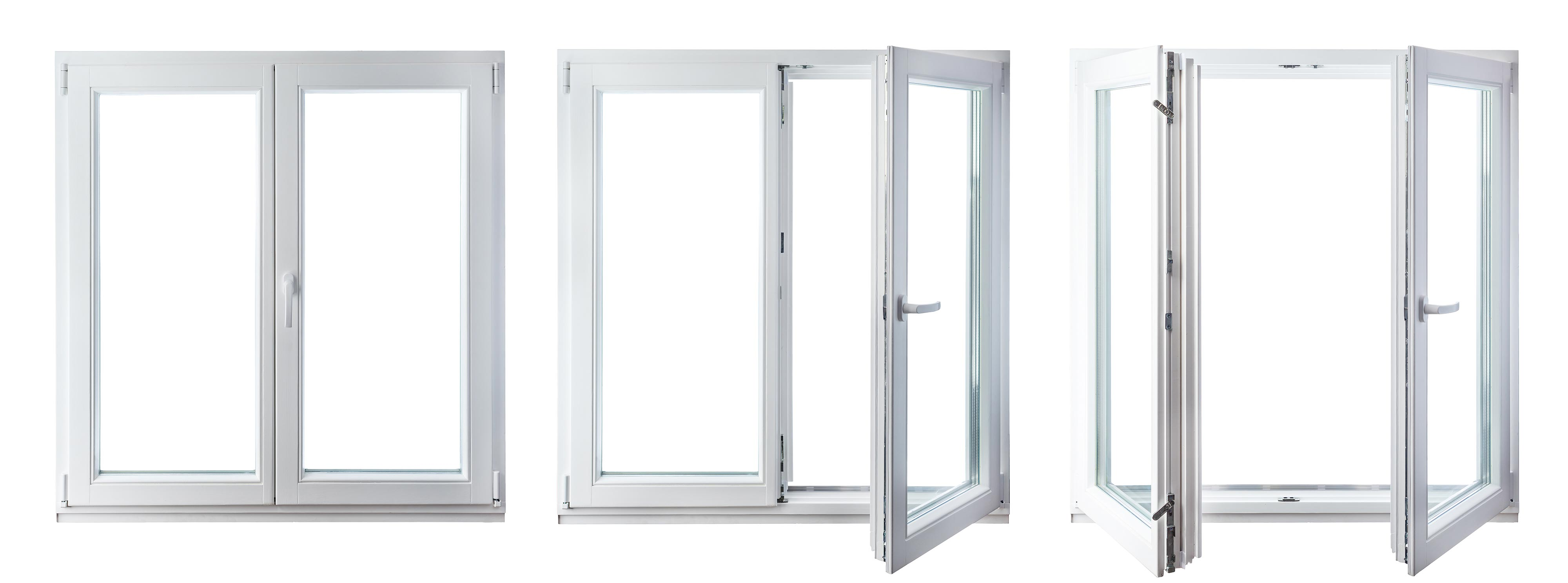 Ein doppelflügeliges Dreh-Kipp-Fenster mit Stulp vereint ansprechendes Design mit Lüftungsmöglichkeiten und einer freien Aussicht bei geöffnetem Fenster.