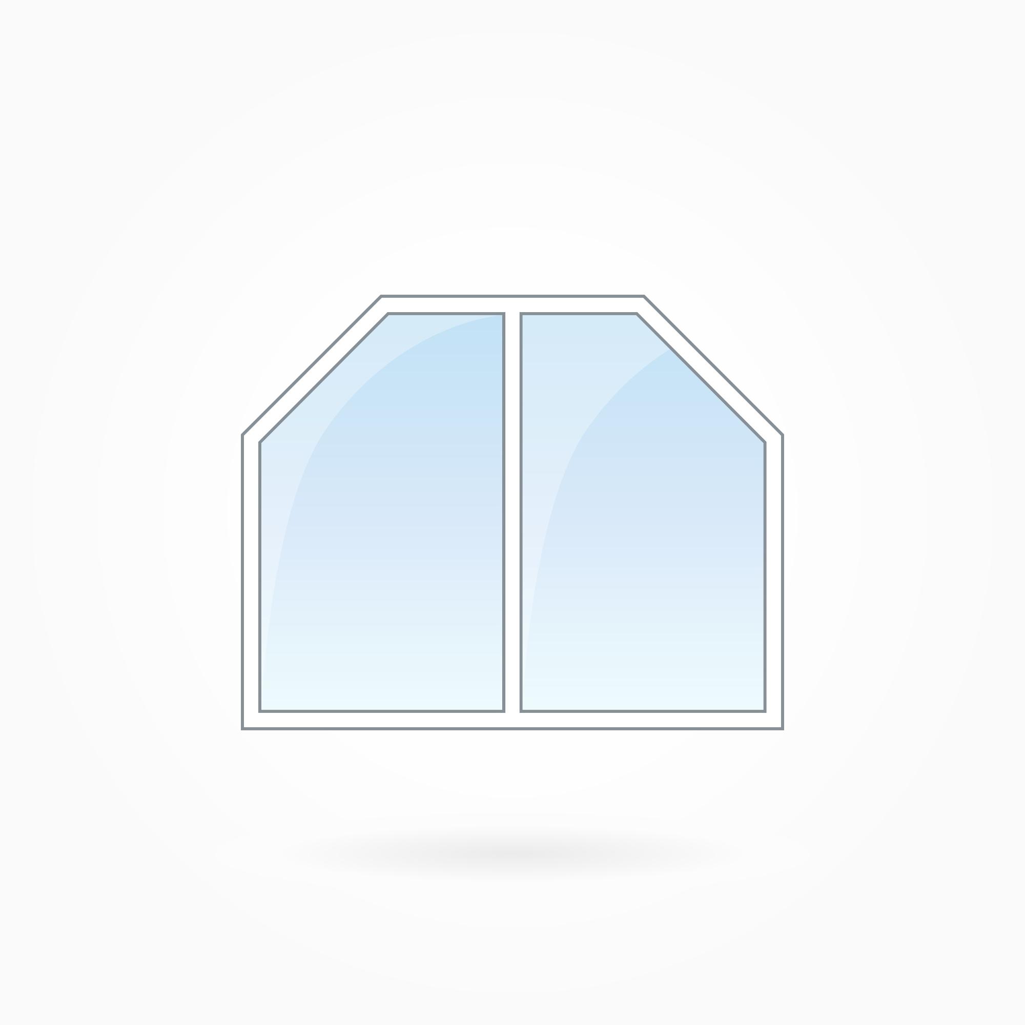 Trapezförmiges Fenster
