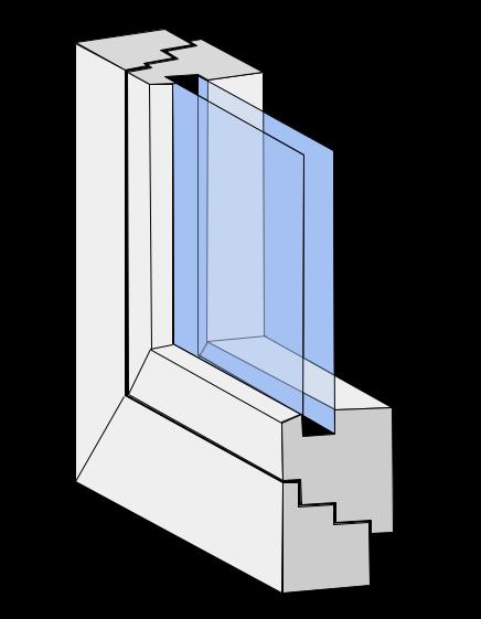 Fensterprofilgeometrie flächenbündig