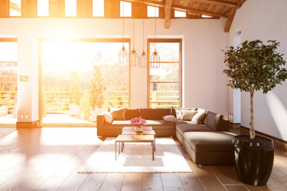 Sonnenschutzglas Wohnzimmer